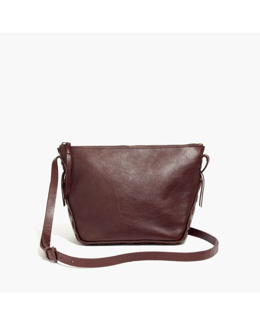 madewell the marin crossbody bag in brown rich brown