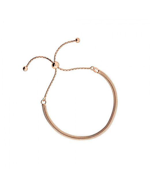 Azendi | Metallic Rose Vermeil Adjustable Flat Bracelet | Lyst