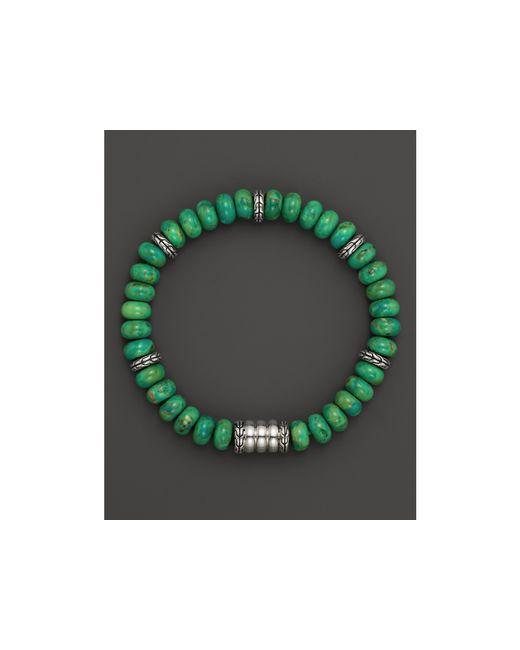 John Hardy | Men's Sterling Silver Bedeg Beaded Bracelet With Mohave Green Turquoise for Men | Lyst