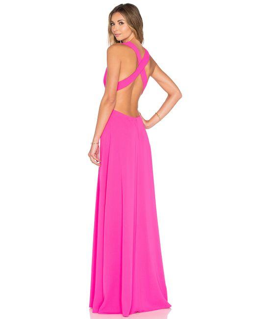 Jill Jill Stuart Deep V Gown In Pink - Save 76%