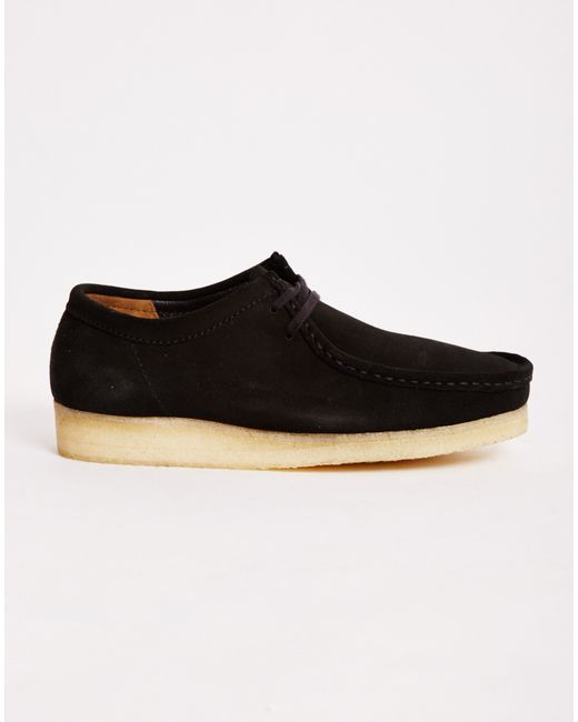 Clarks | Black Wallabee Boots for Men | Lyst