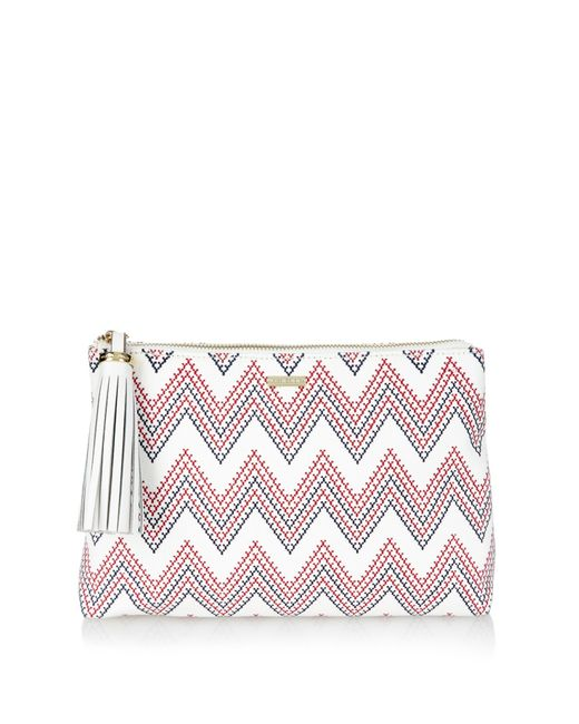 replica chloe marcie bag - Melissa odabash Ibiza Aztec-print Canvas Clutch in Multicolor (RED ...