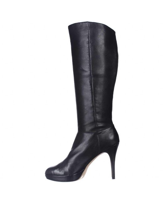 Vince Camuto Emilian Wide Calf Knee High Boots In Black