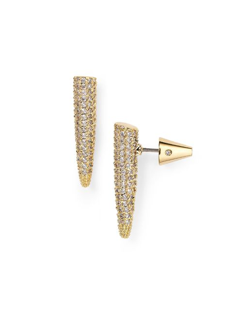 Eddie Borgo | Metallic Mini Pave Spike Earrings | Lyst