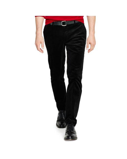 Polo Ralph Lauren   Black Stretch Slim-fit Corduroy Pant for Men   Lyst
