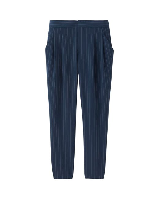Beautiful Uniqlo Women39s Draped Striped Joggers In Blue  Lyst