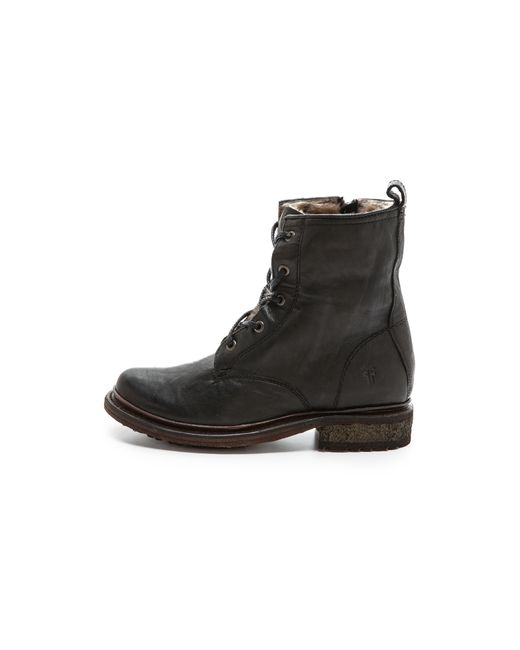Frye | Black James Lace-up Boot | Lyst