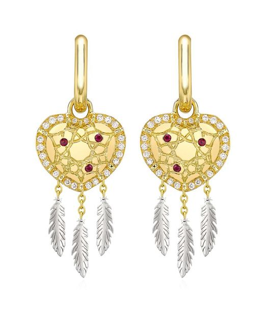 Theo Fennell | Metallic Dreamcatcher 'art Earrings | Lyst