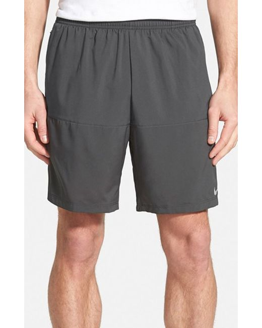 Nike | Gray Dri-fit Woven Running Shorts for Men | Lyst