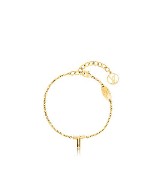 Louis Vuitton | Metallic Lv & Me Bracelet, Letter T | Lyst