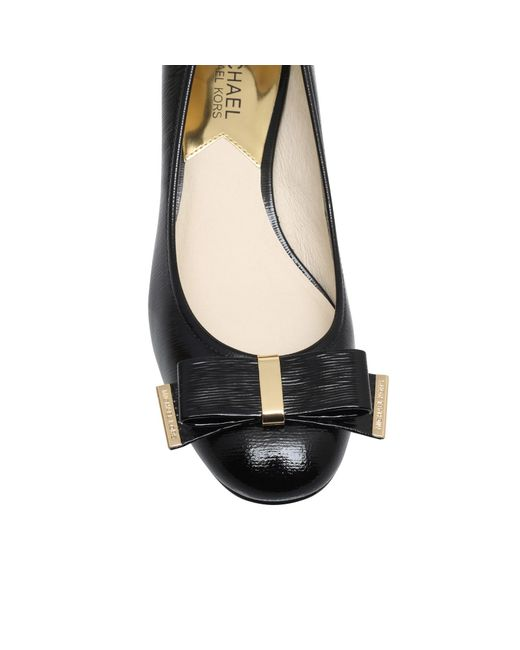 Michael Kors | Black Keira Mid Block Heel Court Shoes | Lyst