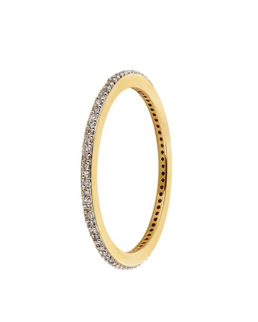 Monica Vinader | Metallic Skinny Diamond Eternity Ring | Lyst