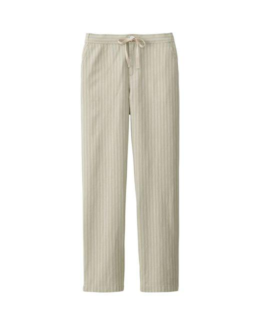 Unique Home Hers Clothing Pants Beige Women39s Size 4P Petite Wide Leg Linen