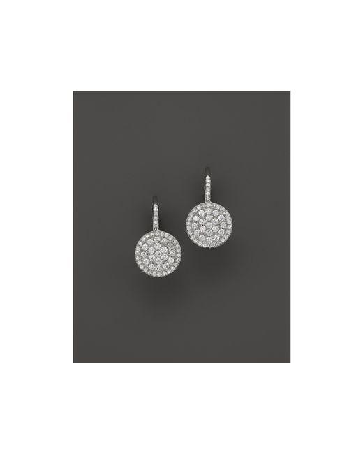 KC Designs | Metallic Diamond Disc Drop Earrings In 14k White Gold | Lyst