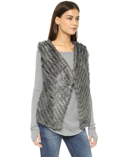 BB Dakota | Gray Keith Faux Fur Vest - Dark Grey | Lyst