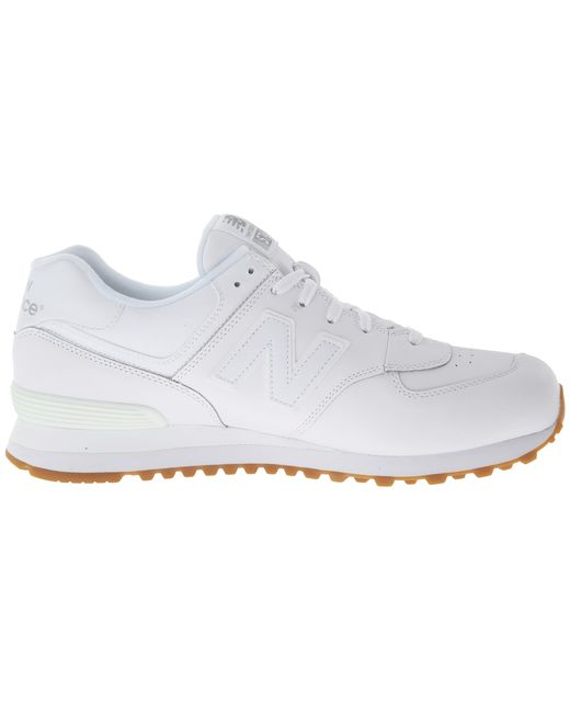New Balance | White 574 - Leather for Men | Lyst