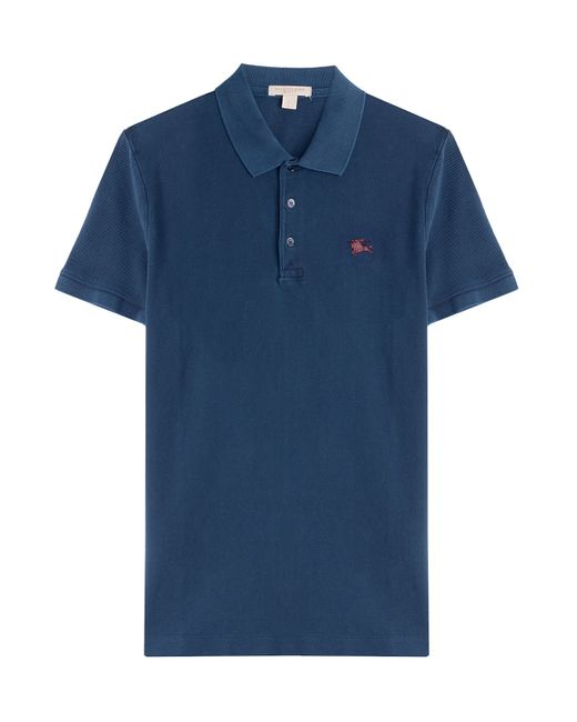 Burberry Brit Cotton Polo Shirt Blue In Blue For Men Lyst
