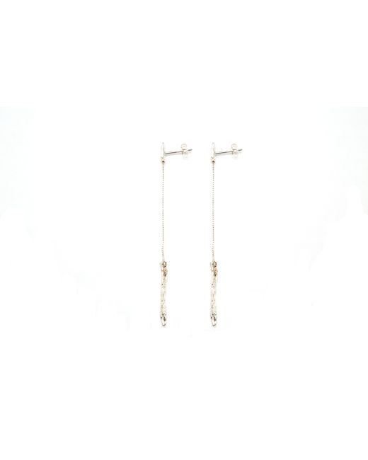 Niza Huang | Metallic Illusion Long Drop Earrings | Lyst