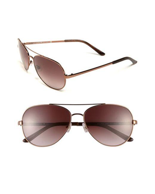 kate spade new york | Brown 'avaline' 58mm Aviator Sunglasses | Lyst