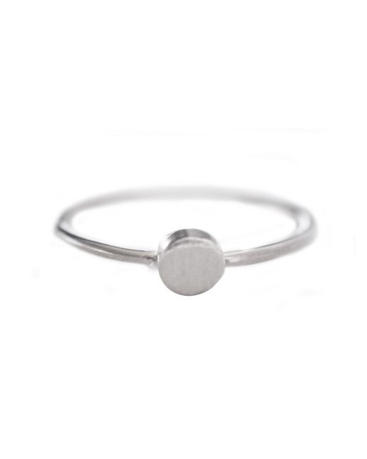 Cloverpost | Metallic Mini Circle Ring | Lyst