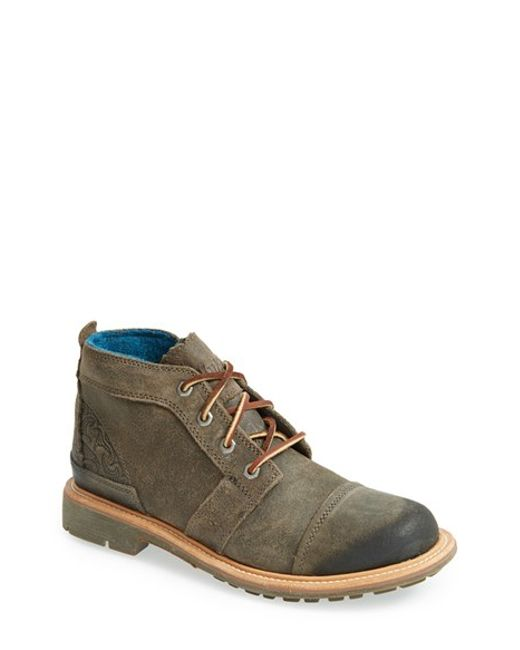 Olukai | Gray 'mauna Iki' Ankle Boot for Men | Lyst