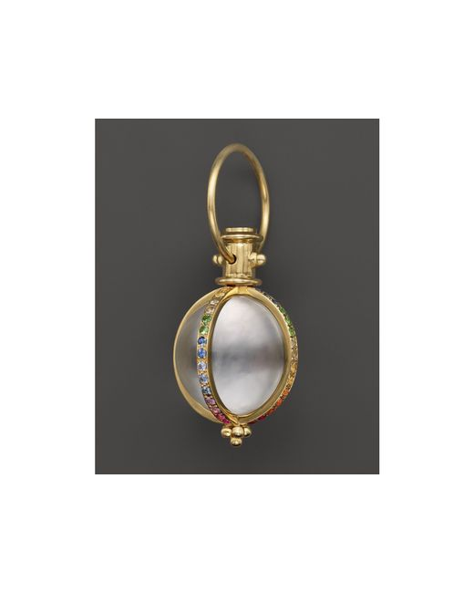 Temple St. Clair   Metallic 18k Yellow Gold Classic Amulet With Rock Crystal And Mixed Pave Sapphires   Lyst