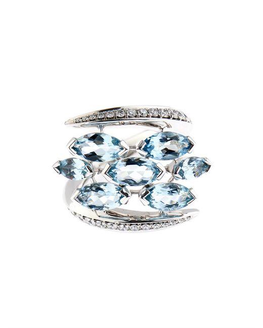 Shaun Leane   Blue Diamond, Aquamarine & White-Gold Ring   Lyst