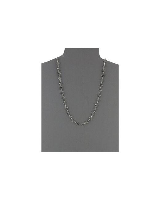 King Baby Studio | Metallic Small Mb Cross Chain Necklace W/ Black Cz Stones | Lyst