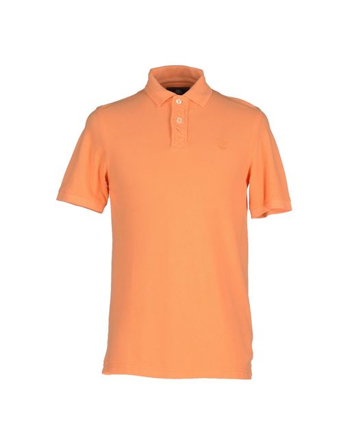 Timberland polo shirt in orange for men save 12 lyst for Mens orange polo shirt