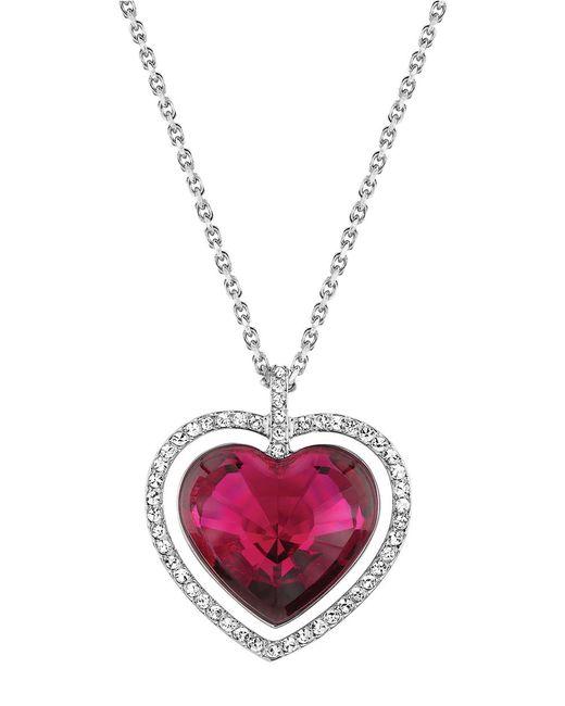 Swarovski | Metallic Ballet Heart Pendant Necklace | Lyst