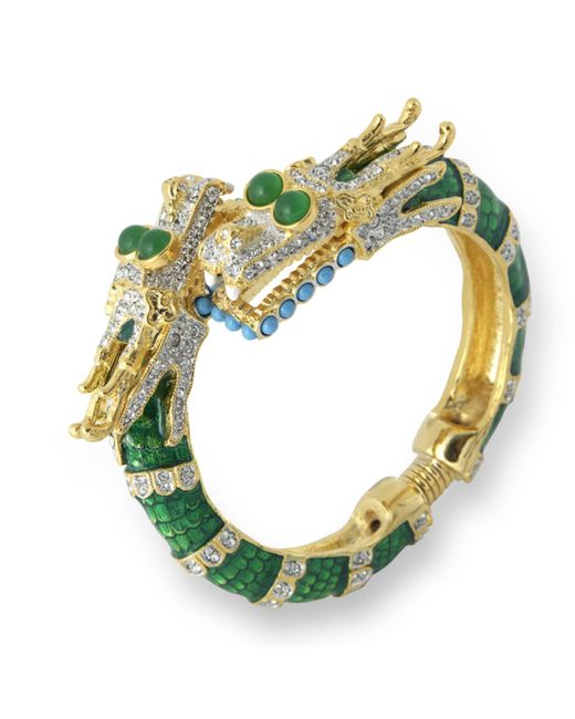 Kenneth Jay Lane | Green Dragon Bracelet | Lyst