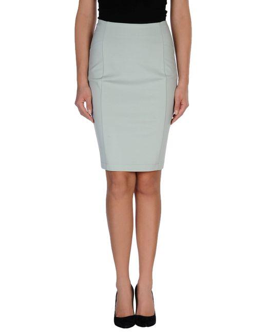 pinko knee length skirt in green lyst