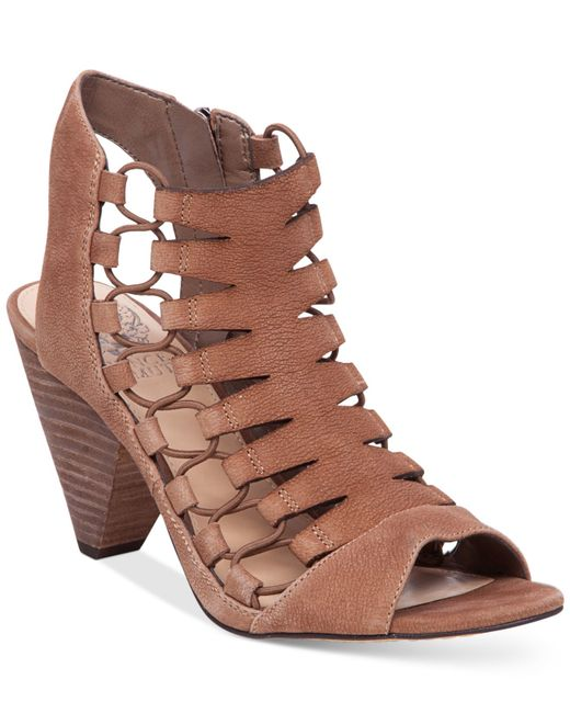Vince Camuto Eliaz Gladiator Dress Sandals In Brown Smoke