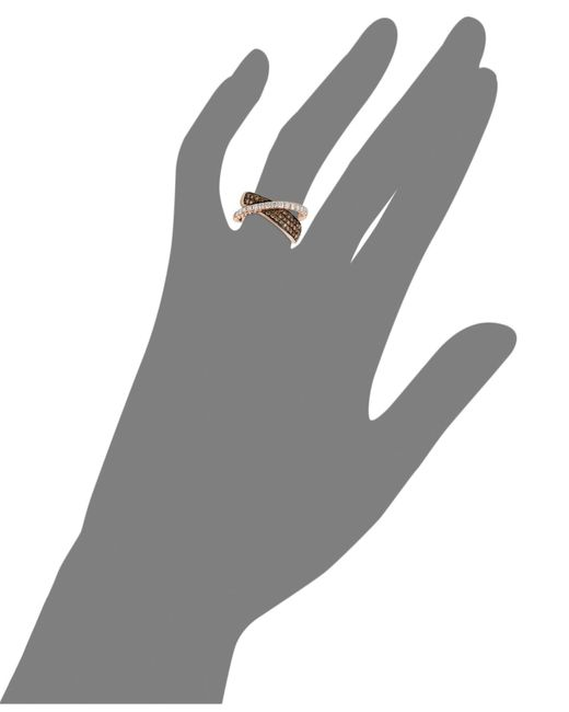 Le Vian | Brown Diamond Chocolate Diamond Crossover (1-1/8 Ct. T.w.) In 14k Rose Gold | Lyst