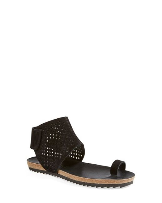 Pedro Garcia | Black 'venus' Flat Sandal | Lyst