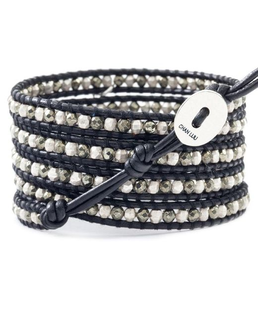 Chan Luu | Multicolor Black Leather Wrap Bracelet | Lyst