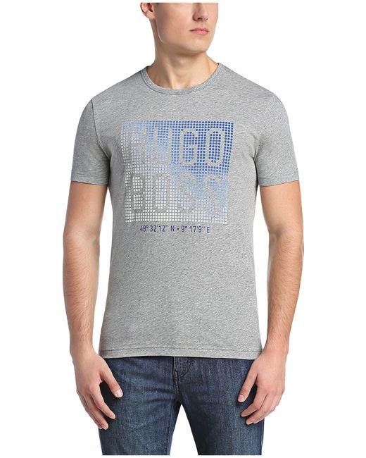 BOSS Green | Gray Printed T-shirt: 'teeos' for Men | Lyst