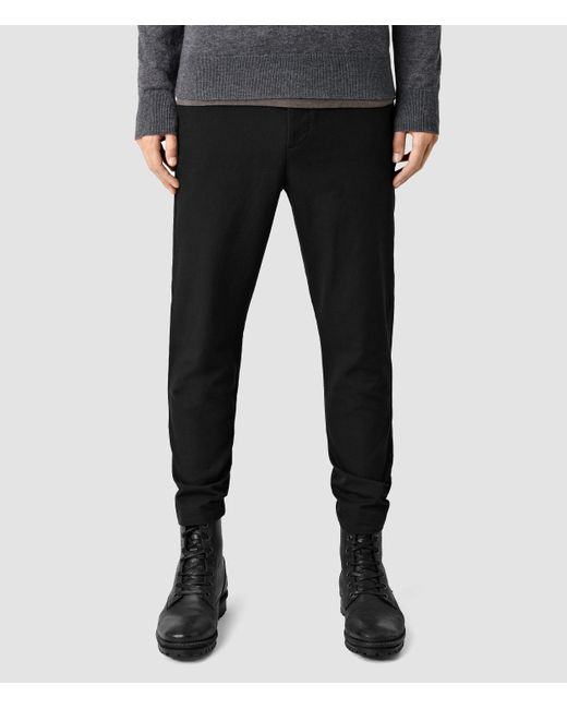 AllSaints | Black Silas Trousers for Men | Lyst