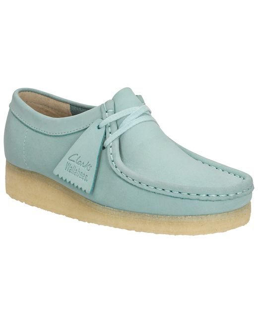 Clarks Originals Wallabee Lace Up Trainers In Blue Light