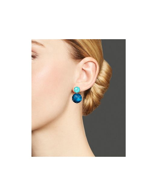 Ippolita | Blue Wonderland 2-stone Post Earrings In Mystic | Lyst