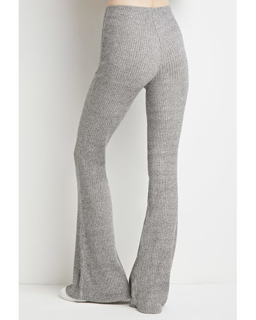 Forever 21   Gray Marled Knit Flared Pants   Lyst
