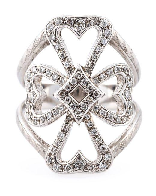 Loree Rodkin   Metallic Diamond Maltese Cross Midi Ring   Lyst