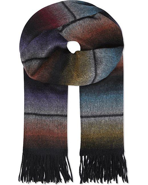 Paul Smith | Multicolor Block Knit Wool Scarf for Men | Lyst