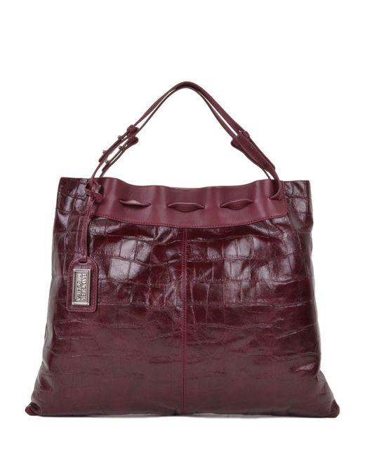 Badgley Mischka   Purple Adalyn Croco Handbag   Lyst