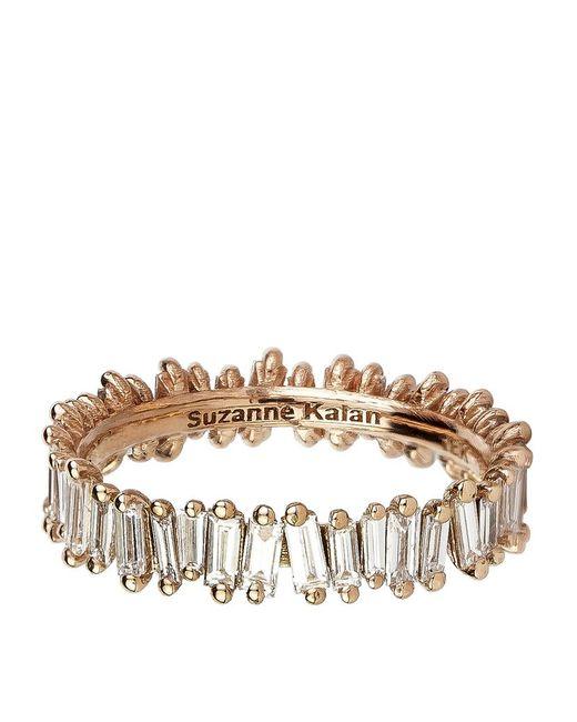 Suzanne Kalan | Metallic Rose Gold Baguette Diamond Ring | Lyst