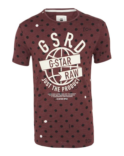 G-Star RAW | Purple Raw V-neck Relaxed Fit Crew Neck T-shirt for Men | Lyst