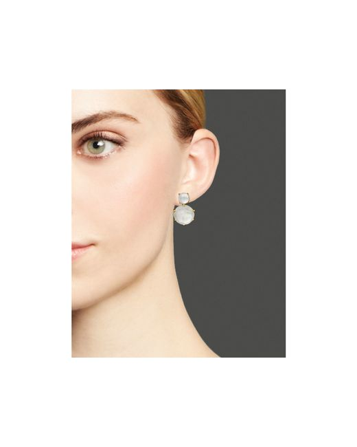 Ippolita | White 18k Rock Candy 2 Stone Post Earrings In Mother-of-pearl Doublet | Lyst