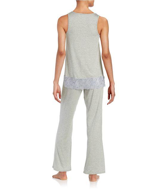 Felina   Gray 2-piece Alice Pajama Set   Lyst