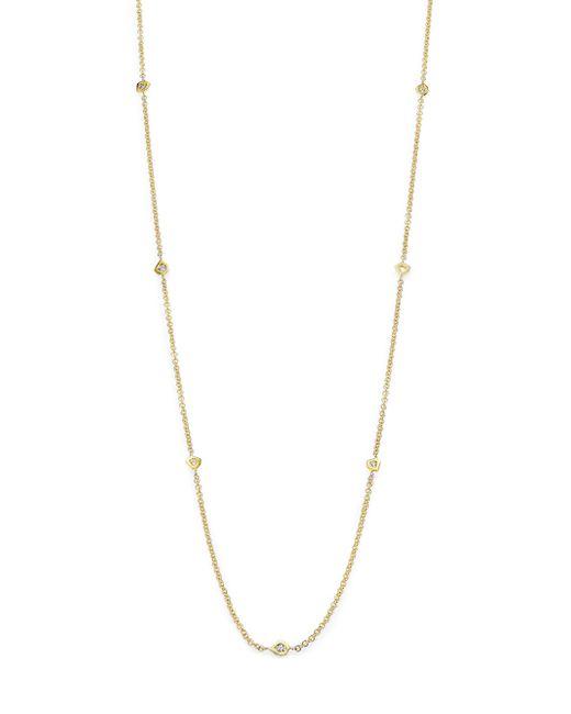 Ron Hami | Metallic Rain Diamond & 18k Yellow Gold Long Organic Station Necklace | Lyst