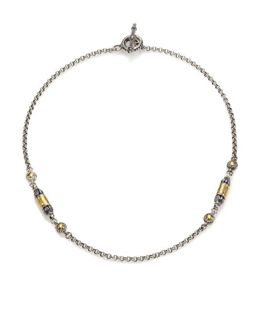 Konstantino | Metallic Aspasia 18k Yellow Gold & Sterling Silver Station Necklace | Lyst